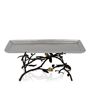 Michael Aram Pomegranate Footed Centerpiece Tray, Large-Home