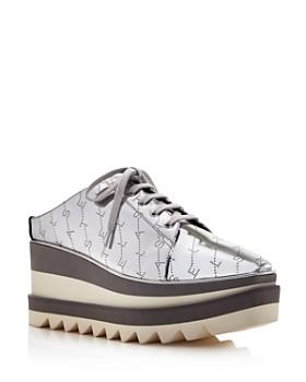 c827ff0bcb6c Stella McCartney - Women s Metallic Logo Platform Sneakers ...