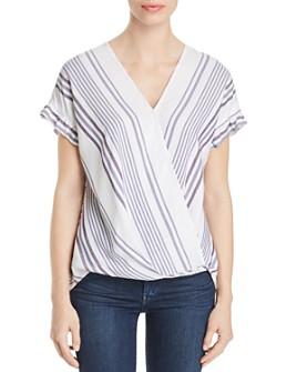 Single Thread - Striped Faux-Wrap Top