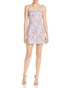 FRENCH CONNECTION - Frances Whisper Botanical-Print Mini Dress