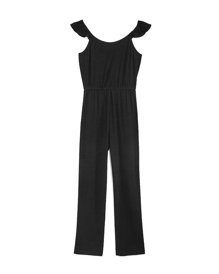 AQUA - Girls' Ruffled-Shoulder Jumpsuit, Big Kid - 100% Exclusive