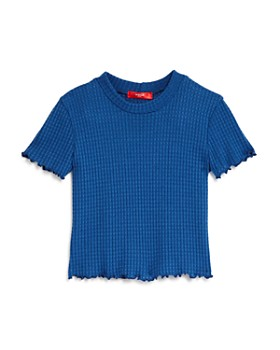 AQUA - Girls' Waffle-Knit Tee, Big Kid - 100% Exclusive
