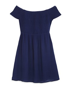AQUA - Girls' Off-the-Shoulder Dress, Big Kid - 100% Exclusive