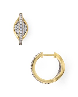Nadri - Sterling Villa Pavé Huggie Hoop Earrings in 18K Gold-Plated Sterling Silver