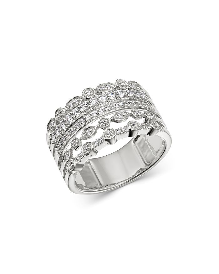 Bloomingdale's - Diamond Multi-Row Band in 14K White Gold, 0.50 ct. t.w. - 100% Exclusive