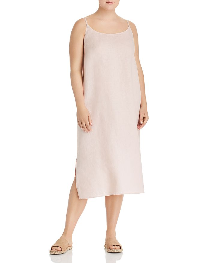 Eileen Fisher Plus - Organic Linen Slip Dress