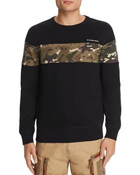 G-STAR RAW - Core Camouflage-Print-Inset Sweatshirt