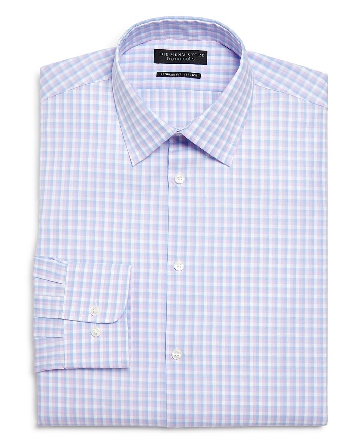 3434e6aebf The Men s Store at Bloomingdale s Check Regular Fit Dress Shirt ...