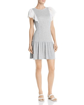 Rebecca Taylor - Livy Lace-Trimmed Jersey Dress
