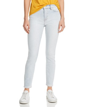 85f57a58f94 7 For All Mankind - High-Waist Ankle Jeans in Luxe Vintage Cloud ...