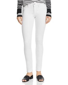 Hudson - Nico Grommet-Detail Cigarette Jeans in White