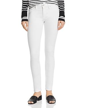 Hudson Jeans NICO GROMMET-DETAIL CIGARETTE JEANS IN WHITE