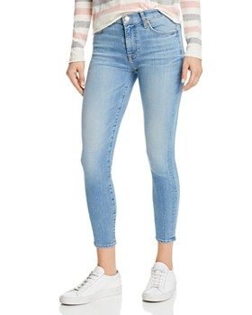7 For All Mankind - Cropped Skinny Jeans in Cosmopolitan