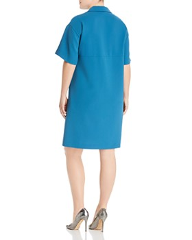 Lafayette 148 New York Plus - Jane V-Neck Shift Dress