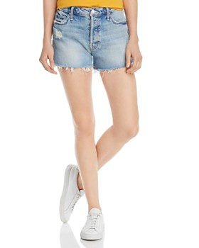 MOTHER - The Tomcat Distressed Denim Shorts in True Confessions