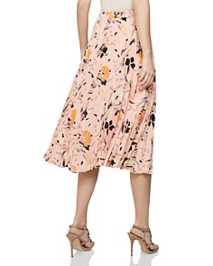REISS - Andi Floral Pleated Skirt