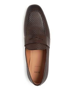 BOSS - Men's Safari Embossed Leather Loafers