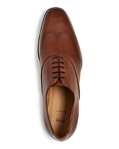 BOSS - Men's Kensington Leather Brogue Wingtip Oxfords