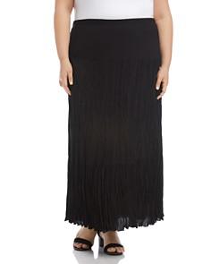 Karen Kane Plus - Crinkled-Gauze Maxi Skirt