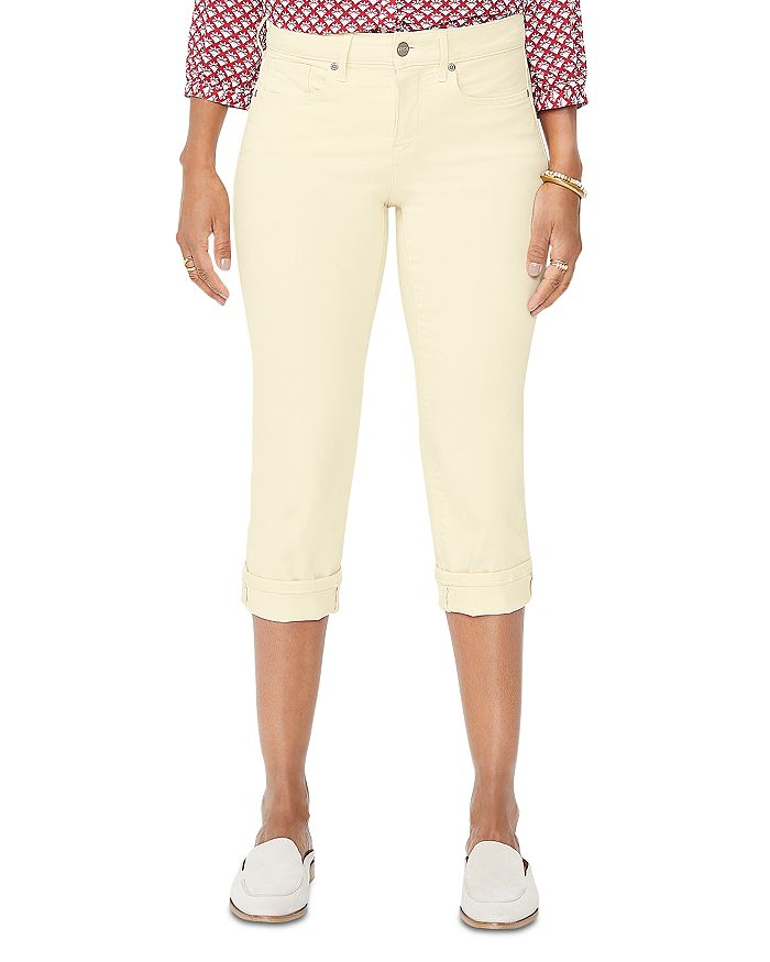 NYDJ - Marilyn Cuffed Cropped Jeans in Marigold