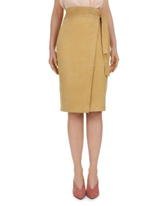 Malica Suede Wrap Skirt by Ba&Sh