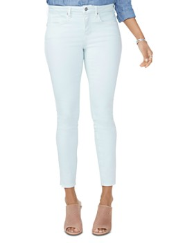 NYDJ - Ami Side-Slit Ankle Jeans in Desert Dew