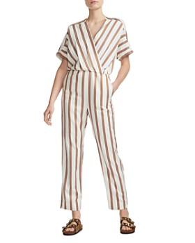 Maje - Pieni Striped Crossover Jumpsuit