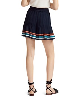 Maje - Ikingi Pleated Striped Mini Shorts