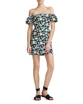Maje - Rapy Floral Off-the-Shoulder Dress
