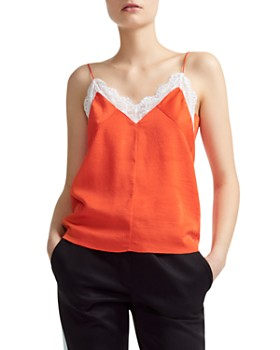 Maje - Linette Lace-Trimmed Camisole Top