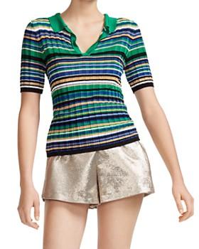 Maje - Macumba Striped Polo Sweater