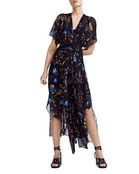 ba43311e34ef1 Maje - Floral-Print Handkerchief-Hem Dress ...