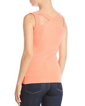 Bailey 44 - Cerebral Cutout Rib-Knit Top