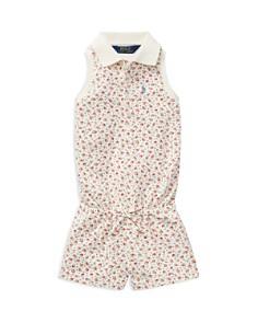 Ralph Lauren - Girls' Floral Mesh Polo Romper - Little Kid