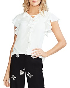 VINCE CAMUTO - Ruffled Keyhole Top