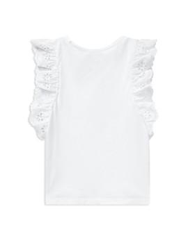 Ralph Lauren - Girls' Eyelet-Sleeve Cotton Top - Big Kid