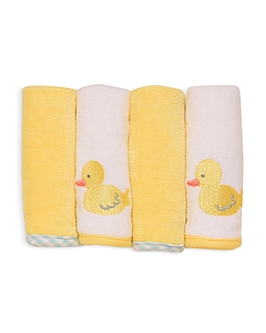 Little Me Unisex Baby Duck Wash Cloths, Pack of 4 - Baby