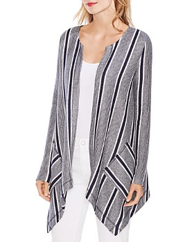 VINCE CAMUTO - Striped Open Cardigan