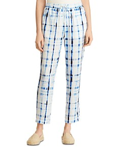 Ralph Lauren - Tie-Dye Plaid Pants