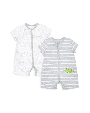 Little Me - Boys' Dino Rompers, 2 Pack - Baby
