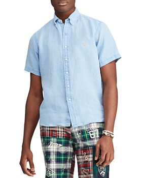 Polo Ralph Lauren - Short-Sleeve Linen Classic Fit Button-Down Shirt