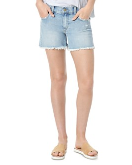 Joe's Jeans - The Ozzie 4 Short Fray Hem Denim Cutoffs in Jade