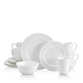 Mikasa - Trellis White 16-Piece Dinnerware Set