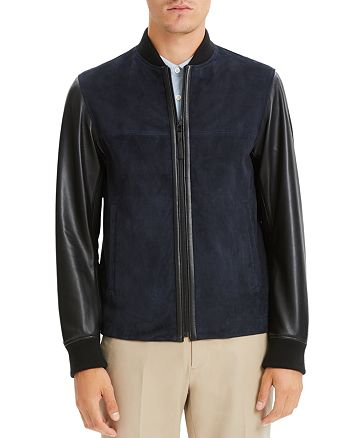 Theory - Amir Suede & Leather Slim Fit Jacket