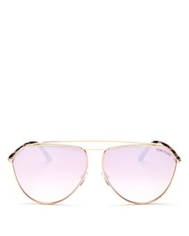Tom Ford - Women's Brow Bar Aviator Sunglasses, 63mm