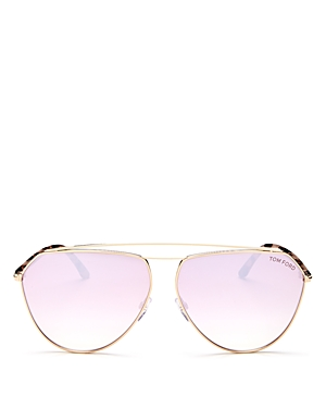 Tom Ford Women's Brow Bar Aviator Sunglasses, 63mm