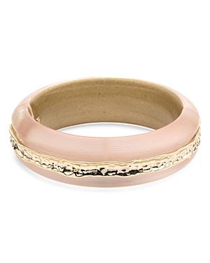 Alexis Bittar Brass Inset Bangle Bracelet