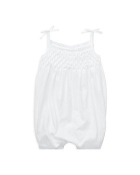 Ralph Lauren - Girls' Smocked Cotton Shortall - Baby
