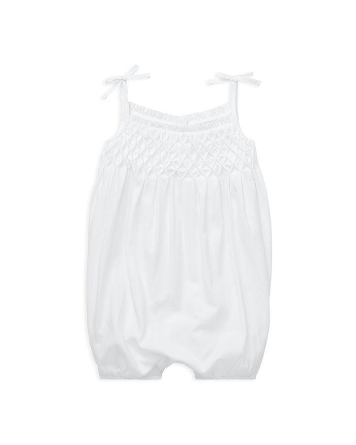 Ralph Lauren - Girls' Smocked Cotton Shortall - Baby