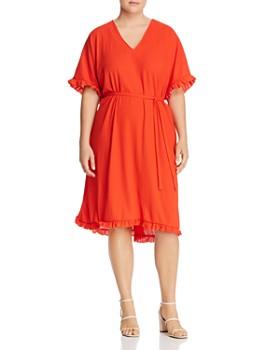 JUNAROSE Plus - Ebony Ruffle-Trim Dress